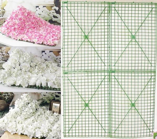 Cadre de tuile cadre en plastique rangée de fleurs arc squelette super spécification dans le mariage arrangement de fleurs mur décoré 2 9xh h r