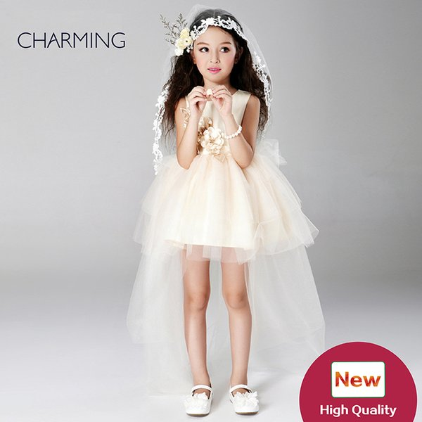 girls high low dress occasion dresses for children champagne high quality wholesale buy china wholesale products from chinese