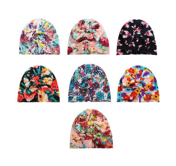 free shipping fashion new baby hair printing headflwers &hats accessories 100pcs /lot more 12color for 0-3T baby free size