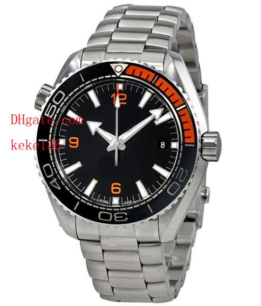Relojes de pulsera de calidad superior de lujo Ocean CO-AXIAL 215.30.44.21.01.002 43.5mm Cerámica ETA 8500 Movimiento mecánico automático para hombre Relojes Relojes