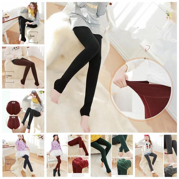 42f0e2b8590f4 Women Thick Velvet Legging Winter Autumn Warm Thick High Waist Elastic  Trousers Pants Slim Skinny Pants 100pcs OOA3820 on sale