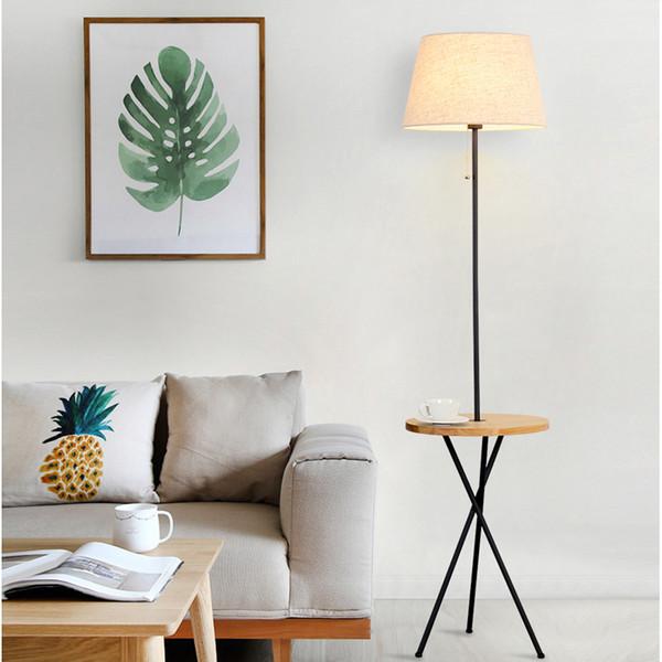 2019 Nordic Solid Wood Floor Lamp Simple Modern Vertical Fishing Lamp Creative Study Lighting Bedroom Living Room Floor Lamp Lights Table Lamps From