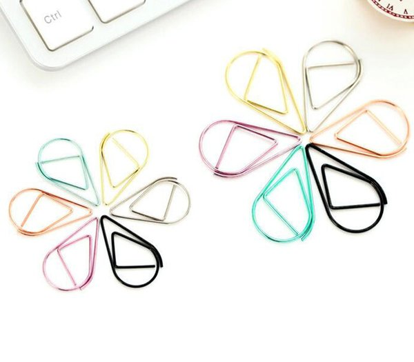 best selling 25mm clip metal drop shape paper clips metal clips office clips kawaii bookmark office school stationery