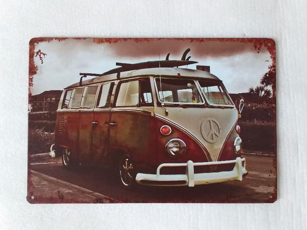 Bus Car Travelling Vintage Rustic Home Decor Bar Pub Hotel Restaurant Coffee Shop home Decorative Metal Retro Tin Sign