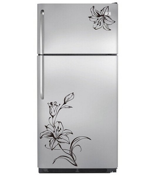 Lily Flower Stickers Fridge Magnets Wall Beautiful Decal Kitchen ...