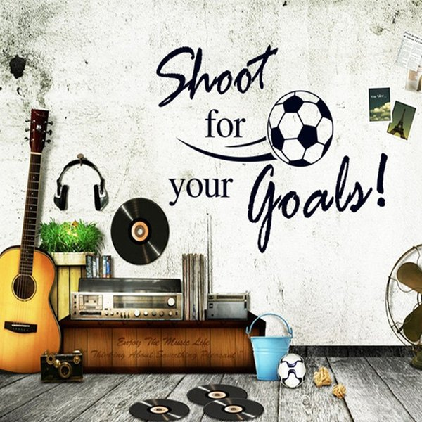Football Series Wall Stickers For Room Removable Wall Decals Nursery PVC Non Toxic Home Decor Murals Hot Sell 1 9hl J R
