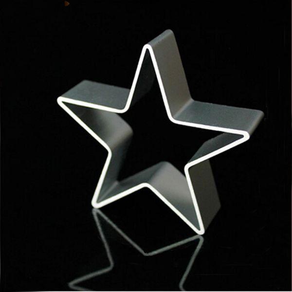 Al por mayor en forma de Estrella Molde de Aluminio Sugarcraft Galleta Torta de Galletas Pasteles Hornear Cortador Herramienta del Molde de herramientas de pastelería herramientas de la hornada de pasteles