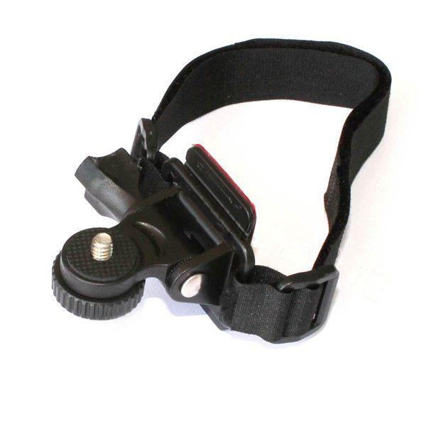 Wholesale- Adjustable Head Vented Helmet Strap Mount for Mobius Action Sports Camera Video DV DVR Bike Bicycle Helmet Mount Holder