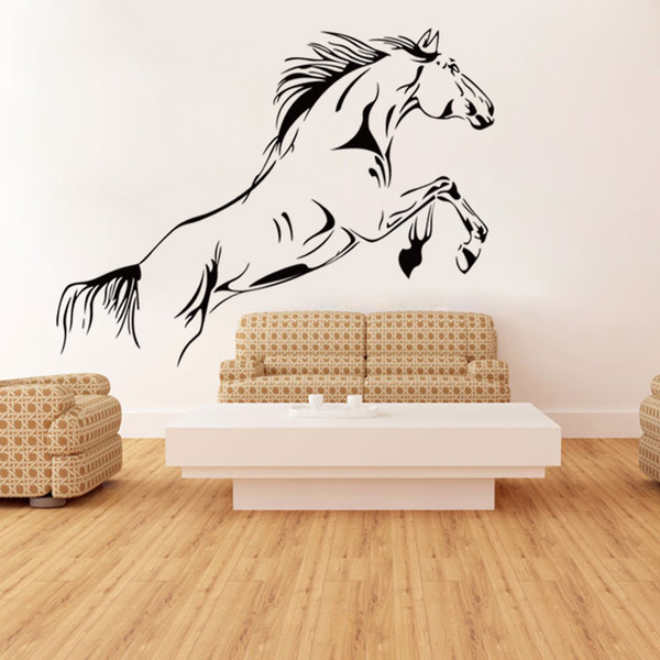 Horse Running Animal Wall Stickers Mural for Living Room Bedroom Porch Home Decoration PVC Large Wall Decorative Decals