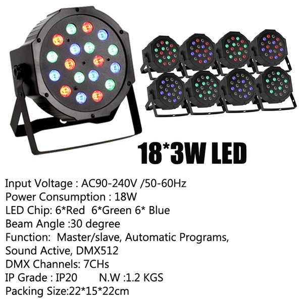 18*3W LED