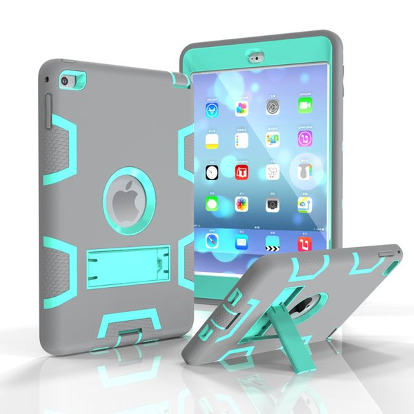 "Silicone Stand Hit Color Case Cover For Apple ipad 234 9.7"" inch"
