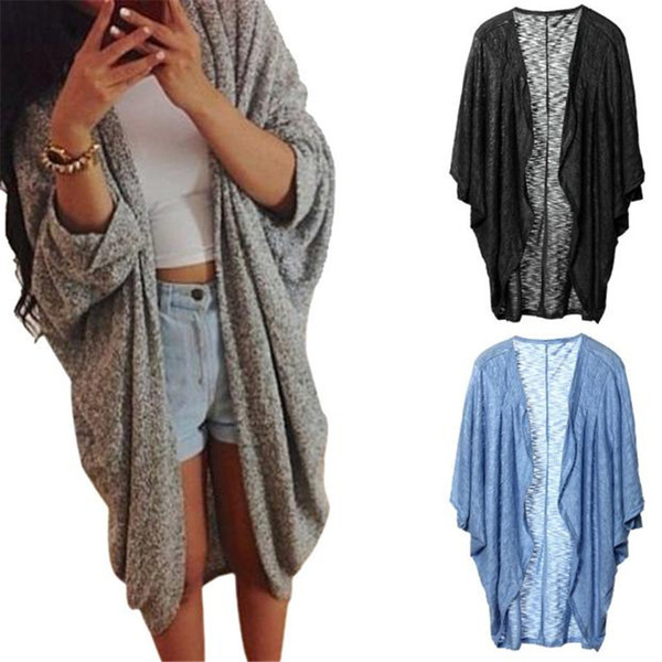 Wholesale- The most Womens Lady Casual Knit Sleeve Sweater Coat Cardigan Jacket