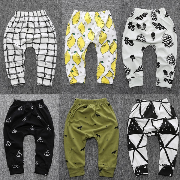 2017 Autumn Baby Pant Fashion Baby Boys Trousers Colorful Girls Leggings Baby Pp Pants 100% Cotton Tights Infant Clothes Soft Bebe Roupas