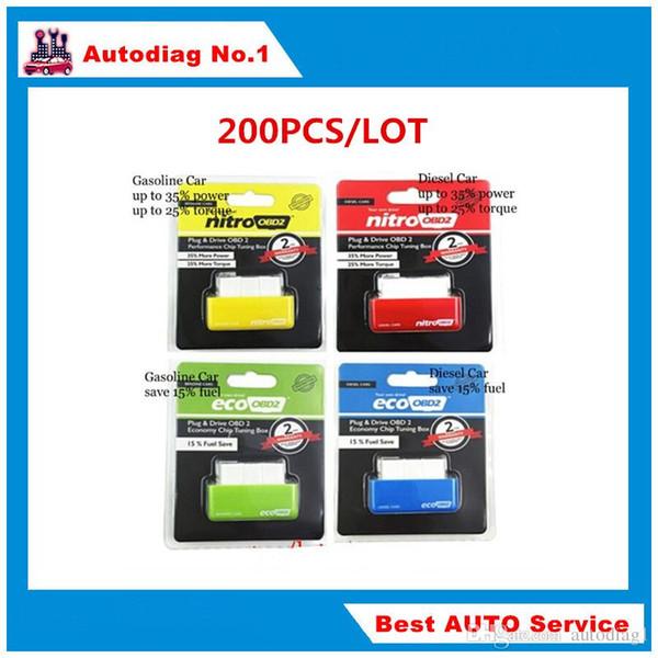 200pcs/lot NitroOBD2 Gasoline Benzine Cars NitroOBD2 Diesel Chip Tuning Box NitroOBD More Power & Torque NitroOBD Plug and Drive Nitro OBD2