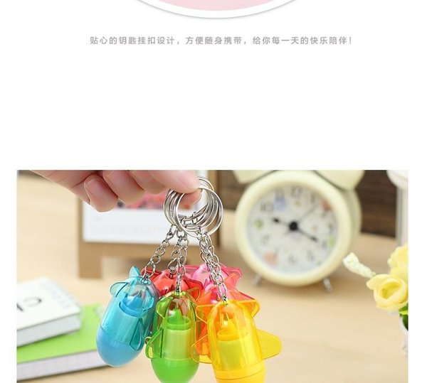 Korea stationery creative cute smiley pills retractable ballpoint pen advertising gift pen
