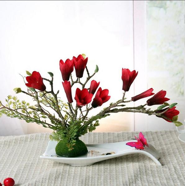 Modern San Sheng Lucky Shape Ceramic Vase for Home Decor Tabletop Vase 4 colors