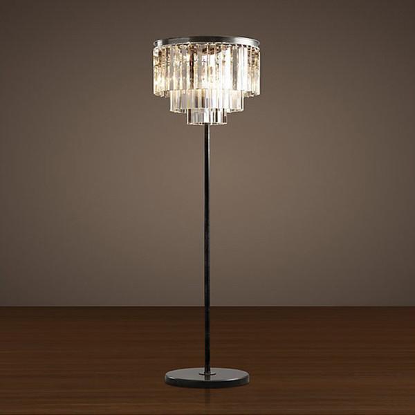 European American foyer bedroom dinning reception light igclassic Vintage Floor Lamp Light modern crystal standard lamp
