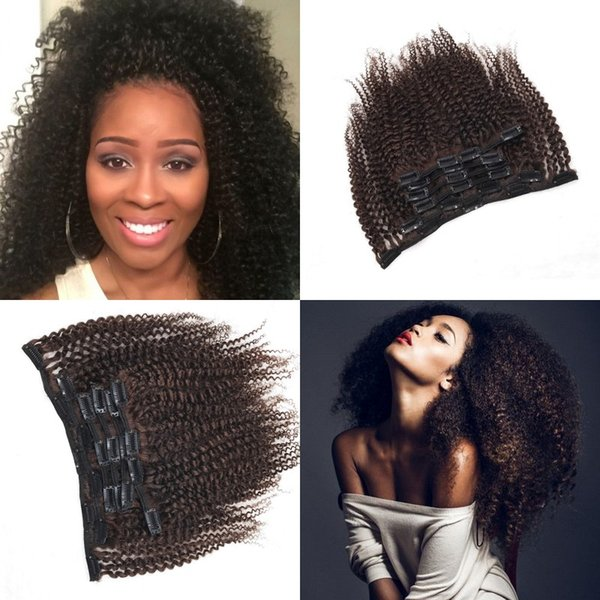 Burmese Clip in Curly Hair Extensions for Black Women 120G Natural Color Remy Human Hair Clip ins G-EASY
