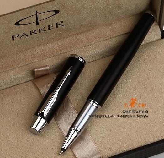 Spedizione gratuita Parker IM roller Pen forniture per ufficio scuola parker pen matte nero forniture per ufficio cancelleria penna a sfera roller tutto in metallo