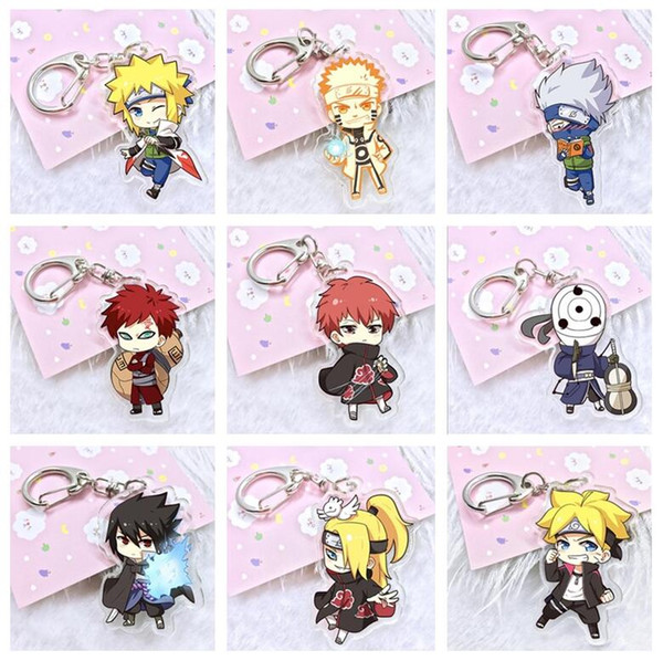 top popular Good A++ Anime Acrylic Double Pendant Keychain KR188 Keychains mix order 20 pieces a lot 2020