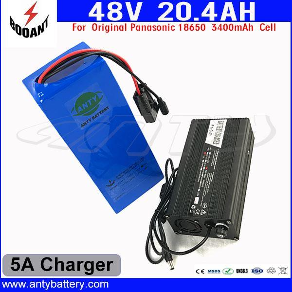 US EU Free Customs Duty 48V Lithium Battery Pack For Bafang eBike Motor 1000W With 5A Charger 48V 20AH Electric Bicycle Battery