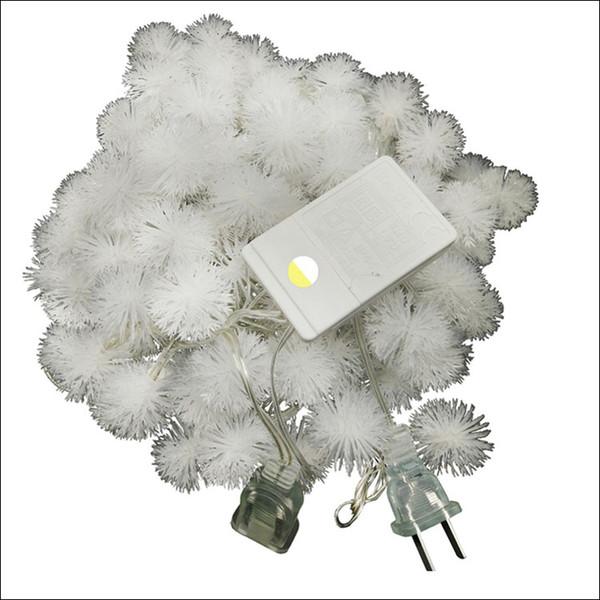 Nuova vendita calda US AC110V LED strip lights 10M palla di neve LED fata stringa decorato chritmas albero festa di nozze vacanza