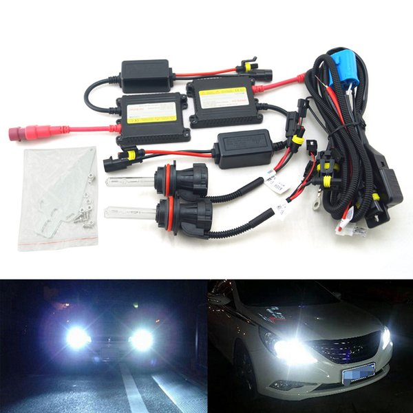LEEWA Car Headlight 9004 9007 Xenon Bulb Hi/Lo Beam Bi-Xenon Bulb Light 35W DC 12V Slim Ballast HID Kit #4477