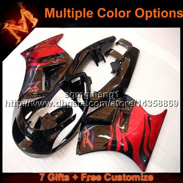 Capot moto 23colors + 8Gifts rouge argent pour Suzuki RGV250 VJ21 1988-1989 88 89 VJ21 1988 1989 88-89 Carénage en plastique ABS