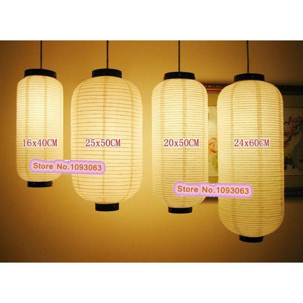 top popular Wholesale- Japanese Paper Lamp Handmade Lantern Hanging Restaurant Cusinine Hotel Spa Shop Room Decoration 2019