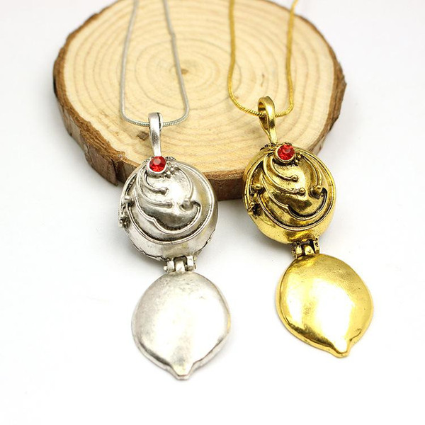 Pendant Necklaces Vintage Jewelry Chains The Vampire Diaries Elena vervain Necklace Locket Pendants Elena Nina Gold Silver Plated Jewellry