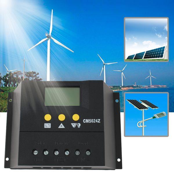 50A 12-24V/48V Solar Regulator Solar Charge Controller LCD Solar Genetator BEST