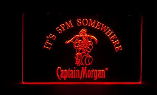 il est 17h Quelque part le bar à bières Captain Morgan