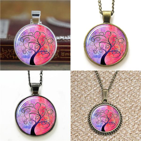 10pcs Life Tree pagan pendant tree Life Tree 3 Glass Photo Cabochon Necklace keyring bookmark cufflink earring bracelet