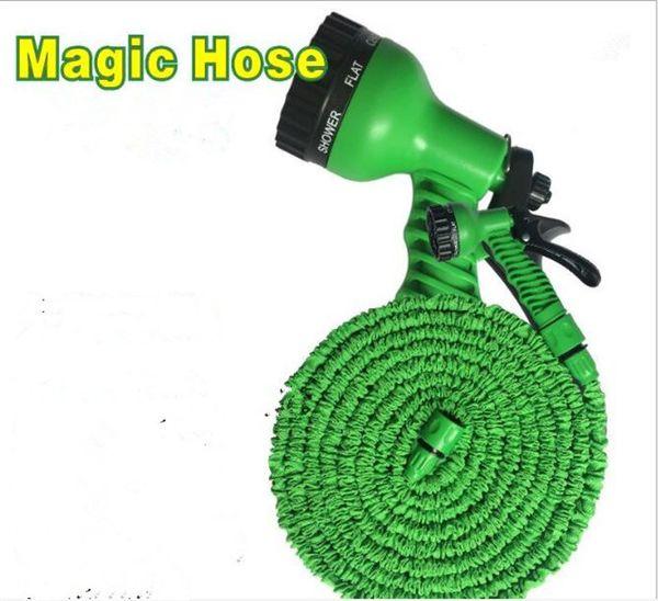 top popular 24pcs 100FT Expandable Flexible Garden Water Hose With Spray Nozzle Head 2 Colors G014 2019
