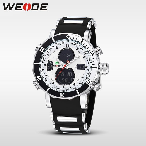 WEIDE Quartz Digital Watch Men Sports Watches Waterproof Military Alarm Stopwatch Dual Time Zones Brand New relogios masculinos