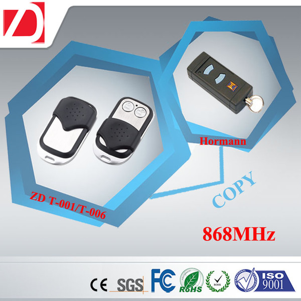 Wholesale-Super remote control switch for the gate transmitter blue buttons only 868MHz HSE2 HSM4 rf two-button remote control duplicator