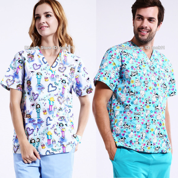 Plus size hospital women medical scrub medical clothing dental clinic beauty salon nurse suit spa work wear nursing uniform medico