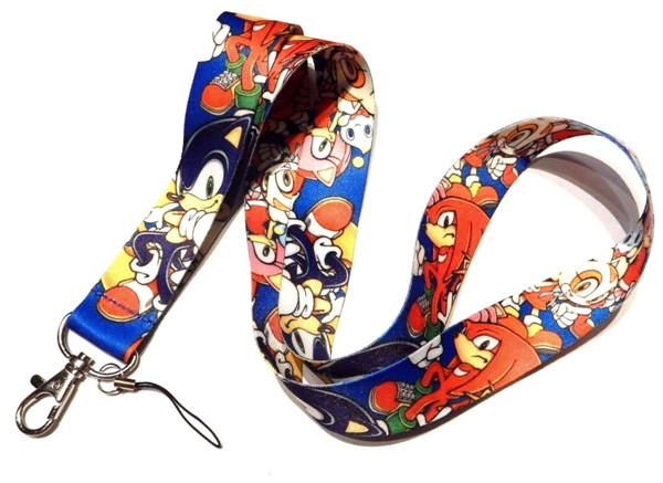 Free shipping 30pcs Cartoon Game SONIC THE HEDGEHOG Neck Lanyard Multicolor Phone Accessories Cell Phone Camera Neck Straps Lanyard Gifts