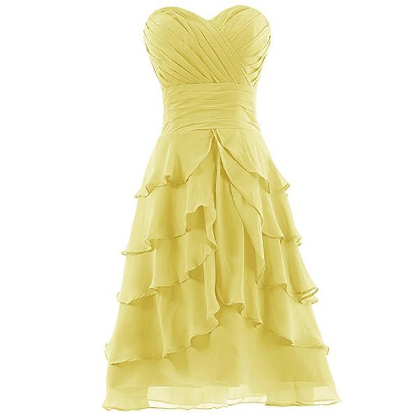 Chiffon Blue/Gray Sweetheart Bridesmaid Chiffon Prom Dresses Evening Wear Gowns Wedding Guest Dress Custom Made Free Shipping