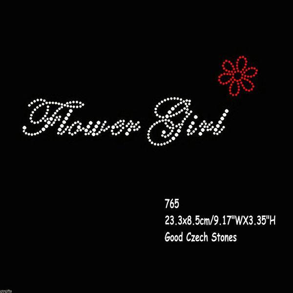 30pcs/lot Bridal Party Design Wedding Hotfix Iron On Rhinestones Transfers Flower Girl Motif 9.17 Inches