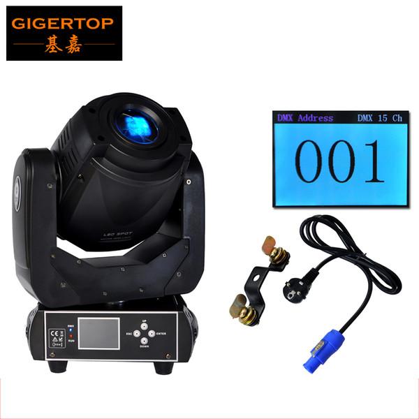 Alto brillo 90W LED Cabeza móvil Spot Stage Lighting DMX 512 Control 90W Gobo Led Luz móvil Pantalla LCD Pantalla de 3 facetas Prisma Girar
