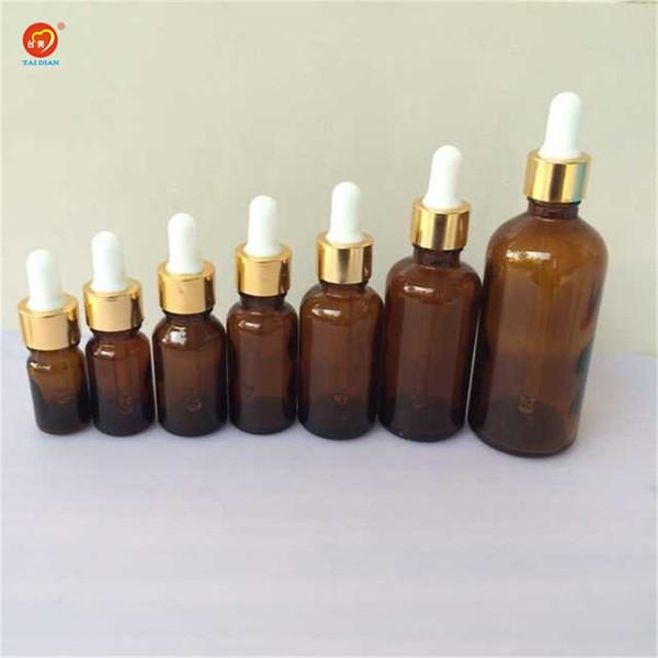 5ml 10ml 15ml 20ml 30ml 50ml 100ml Glass Dropper Bottles with Pipette Empty Amber Esssentail Oil Bottles Liquid Vials Jars 24pcs