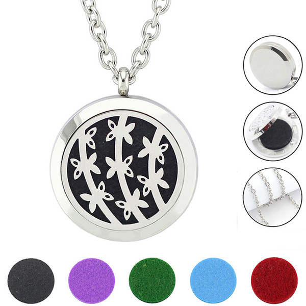 Free With Chain as Gift! Hot Sale Factory Price Perfume Locket Pendant Magnetic 316L Stainless Steel Aroma Locket Necklace