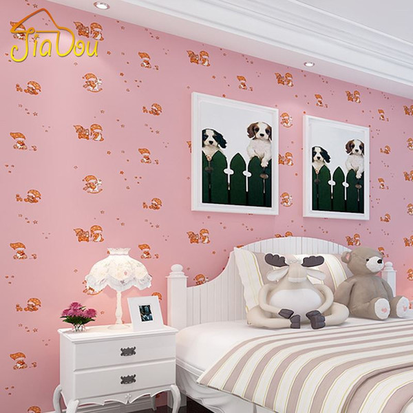 Kids Bedroom Background blue cartoon non woven fabric wallpaper for kids room children's