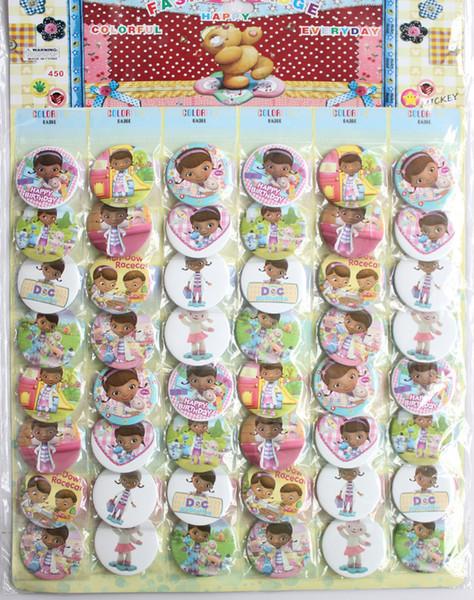 Heißer Großhandelsverkauf 10pcs insgesamt 480 Cartoon 4.5cm Abzeichen vorzüglicher Art und Weisebeutel verziert Kindgeschenk freies Verschiffen 277