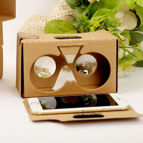 DIY Google Cardboard 2.0 V2 3D glasses VR boxes Virtual Reality Viewing google Version II Paper Glasses for iphone 6S 7 plus SE Samsung s7