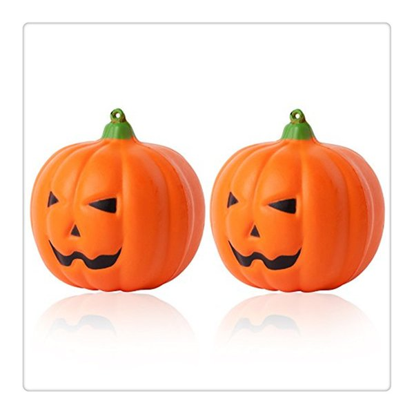New Arrival Jumbo Squishies Pumpkin Squishy Soft Slow Rising Squishies Scented Halloween Gift Fun Toy Phone Strapes Charms Free Shipping