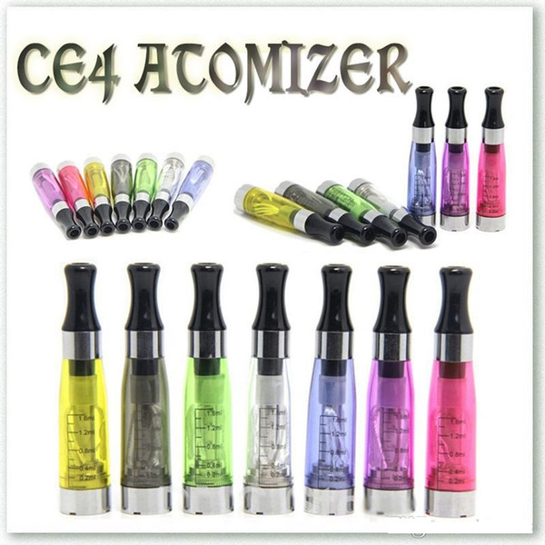 Ce4 Atomizer 1.6ml e Cig Clearomizer Electronic Cigarette 510 eGo-CE4 eGo t,e Cigarette For Vape Pen All eGo Series Clearomizer Vaporiser