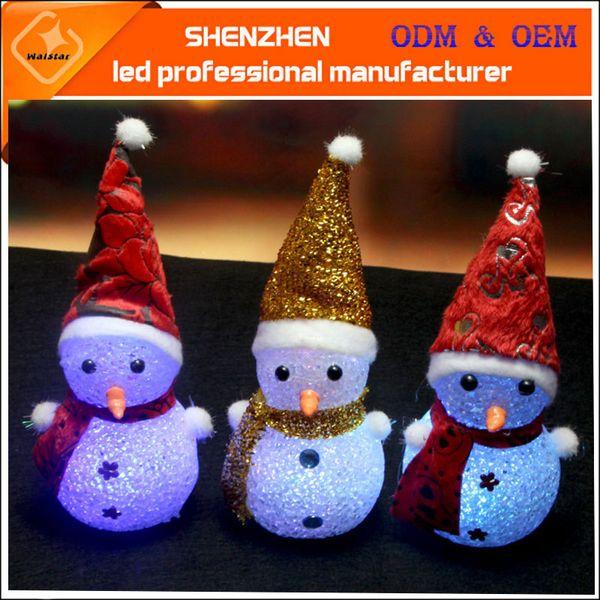 Cadeau de Noël Noël Père Noël Noël bonhomme de neige LED lumière jouet lumineux riz coloré veilleuse lumières de Noël