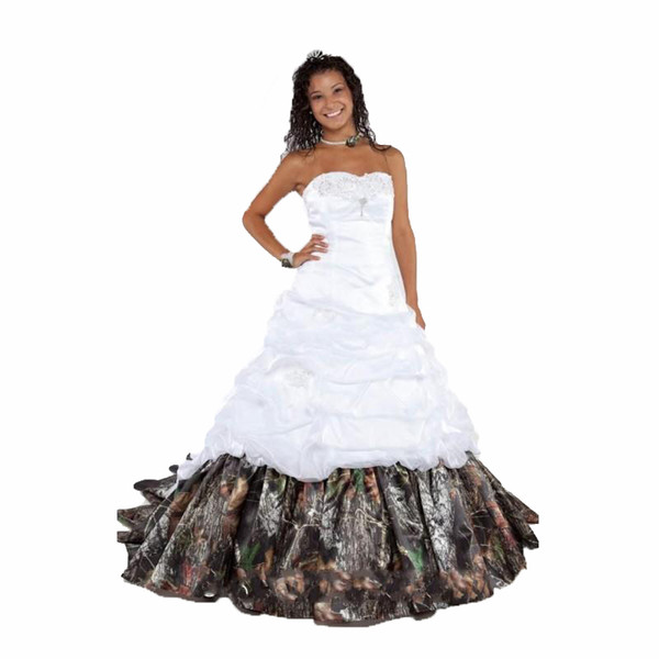 2017 elegant camouflage wedding dresses with appliques ball gown long camo wedding party dress bridal gowns wd1022